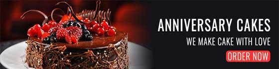 anniversary cake banner
