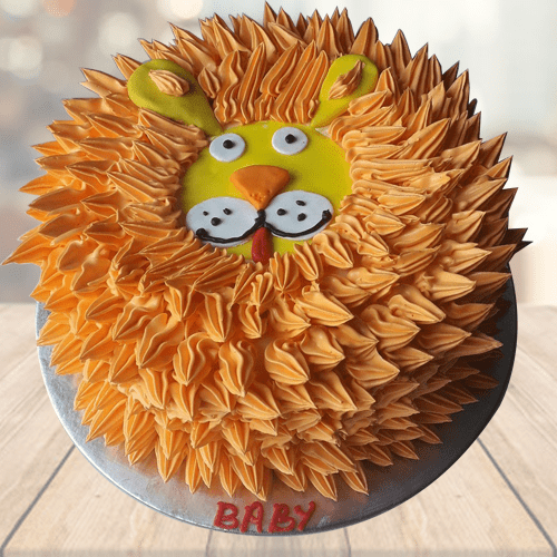 Admirable Lion Theme Baby Boy Birthday Cake Mrcake Funny Birthday Cards Online Elaedamsfinfo