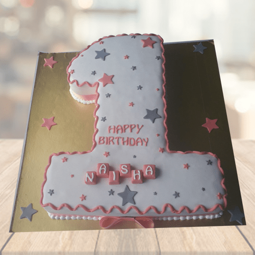 Fabulous First Birthday Cake Buy Number Shaped Cakes Online Personalised Birthday Cards Veneteletsinfo
