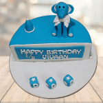 half year birthday cake for baby boy