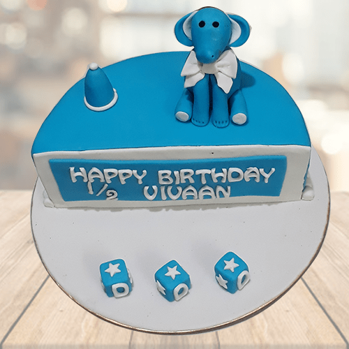 Fantastic Half Year Birthday Cake For Baby Boy Online Mrcake Personalised Birthday Cards Veneteletsinfo