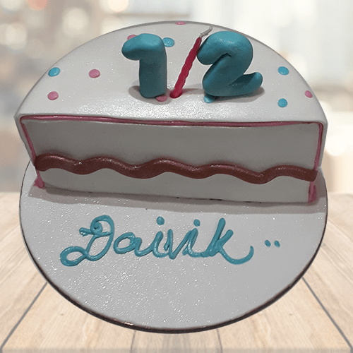 Surprising 1 2 Birthday Cake Online 6 Months Cake For Baby Girls Mrcake Birthday Cards Printable Riciscafe Filternl