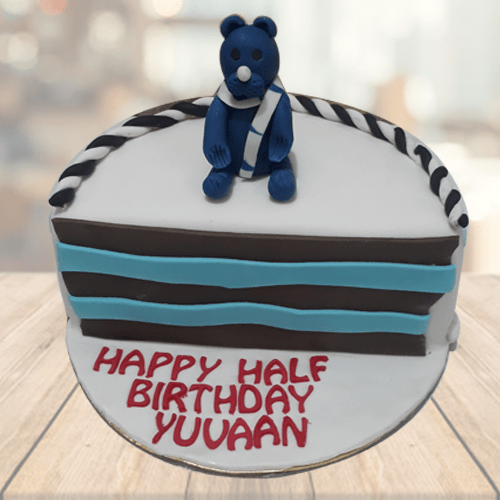 Astounding Half Year Birthday Cake For Boy Buy Online At Low Price Funny Birthday Cards Online Alyptdamsfinfo