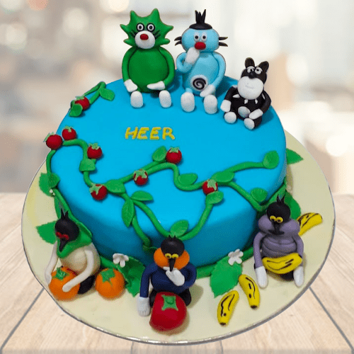 Fantastic Kids Birthday Cakes Buy Oggy And Cockroaches Cake Online Personalised Birthday Cards Beptaeletsinfo