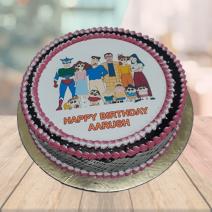 shinchan family cake