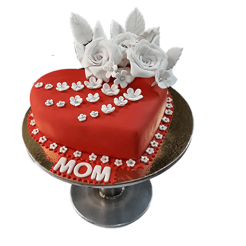 Magnificent 1 Kg Heart Shaped Cake For Mom Birthday Mrcake Funny Birthday Cards Online Elaedamsfinfo