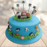 football theme cake for a birthday