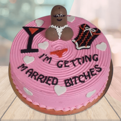 Funny Bachelorette Cake