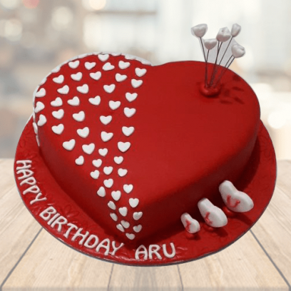 valentine cake, valentine cake with name, valentine day special cake