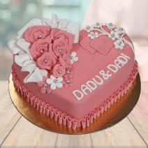 Fondant Heart Cake
