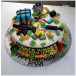 PUBG Theme Cake