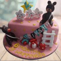 6 month birthday cake online
