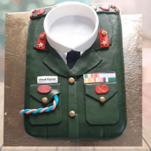 army uniform cake
