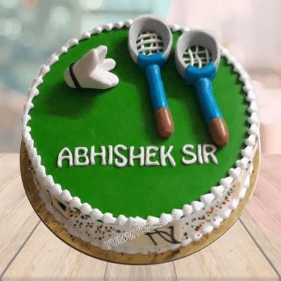 badminton theme cake
