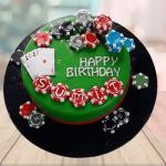 online poker theme cake