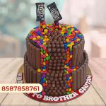 Kitkat gems cake 2 tier
