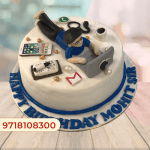 WORK from home theme Cake design